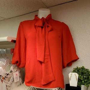 Red holter blouse